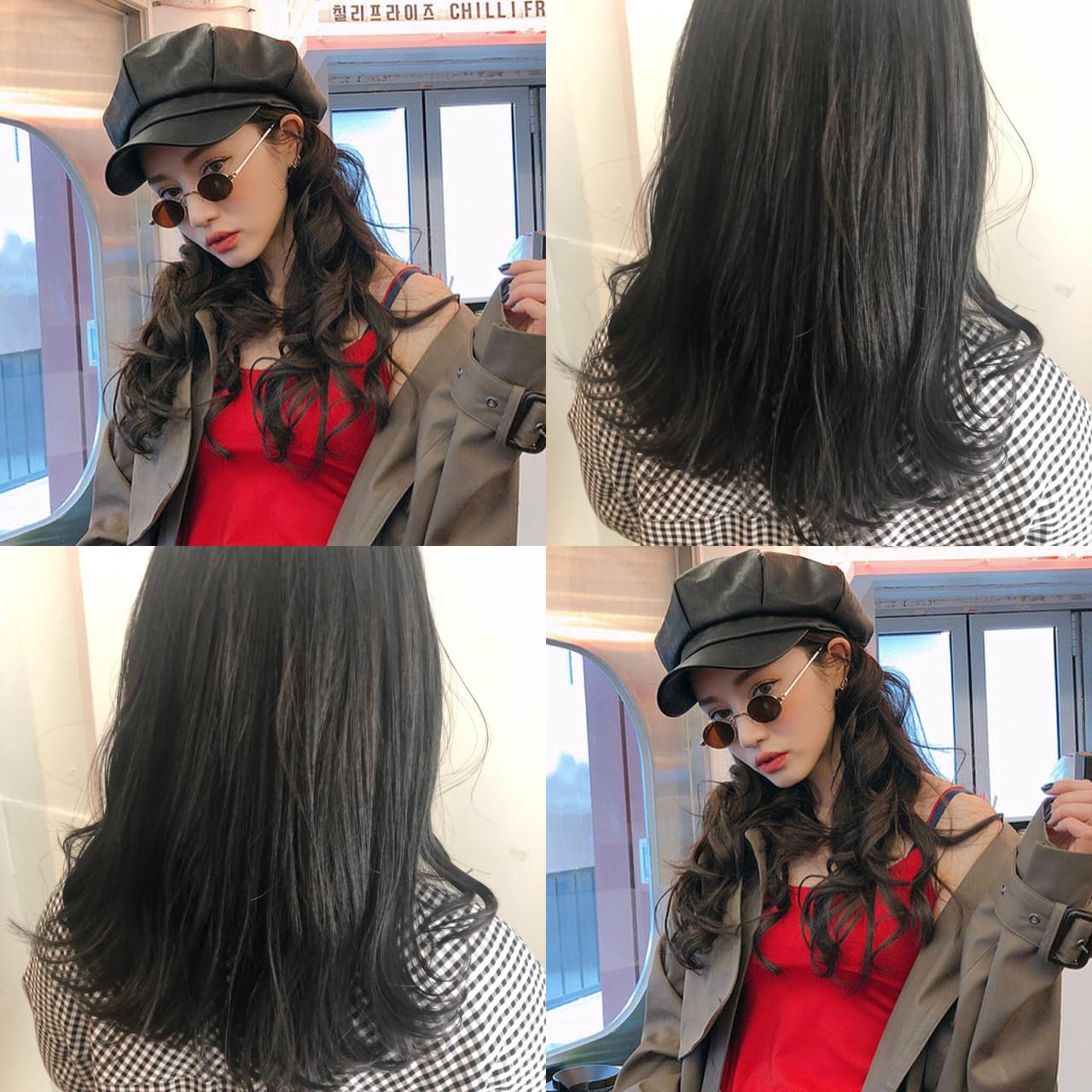 オルチャン ナチュラル 透明感 大人かわいい ヘアスタイルや髪型の写真・画像