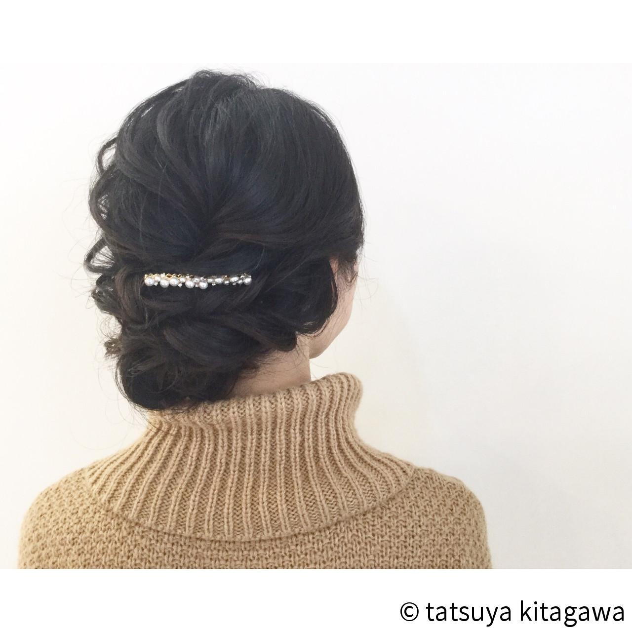 ヘアアレンジ 外国人風 アッシュ 黒髪 ヘアスタイルや髪型の写真・画像