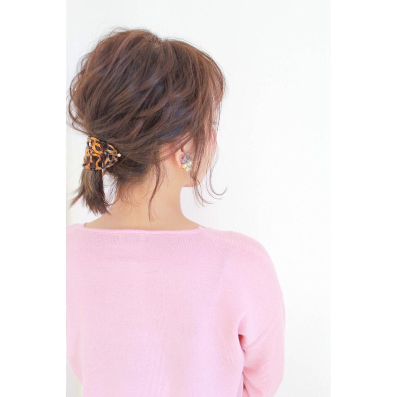 ショート ヘアアレンジ 暗髪 大人女子 ヘアスタイルや髪型の写真・画像 | hiroki / hair latelier emma