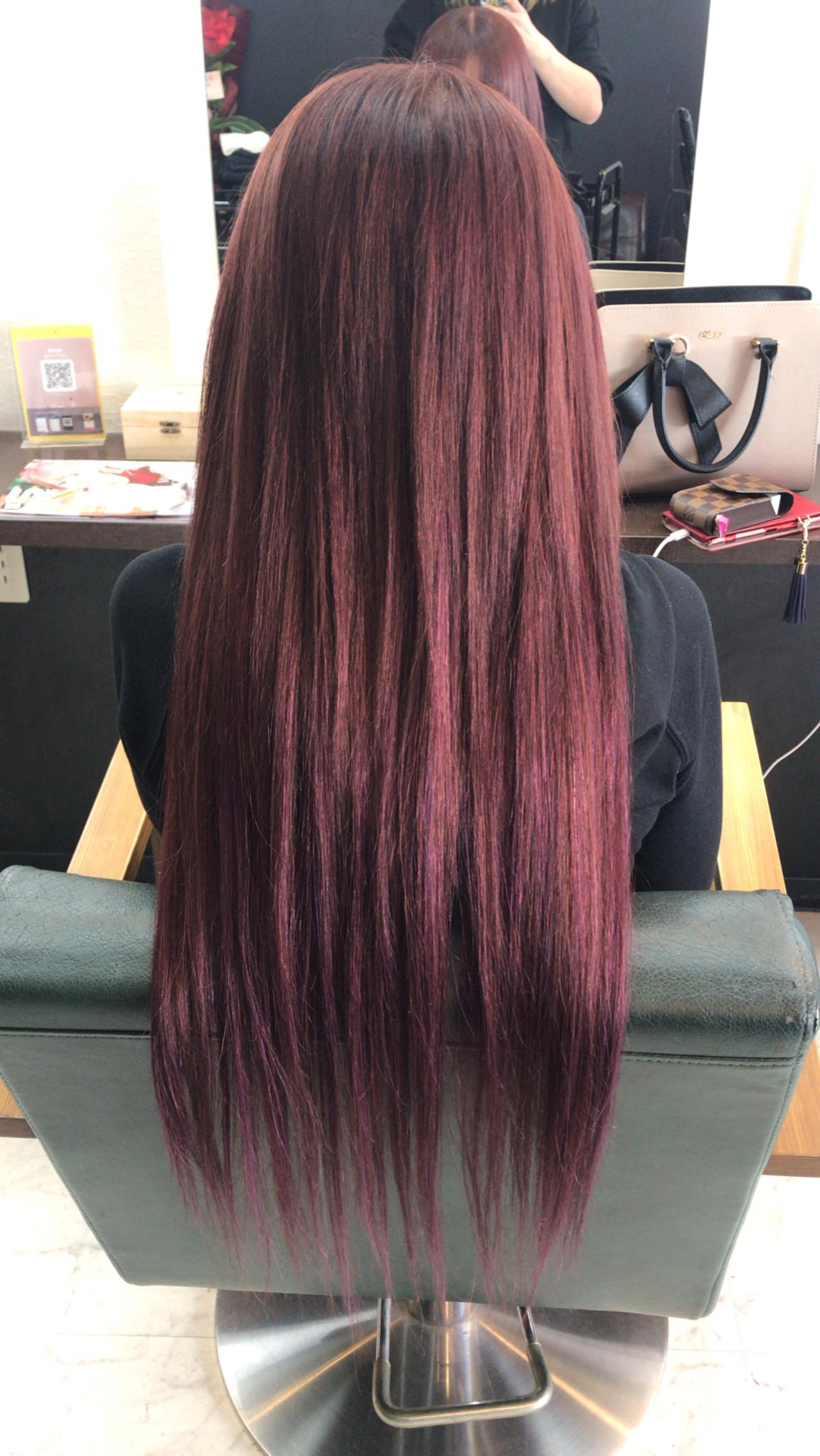 ロング エクステ ガーリー モテ髪 ヘアスタイルや髪型の写真・画像