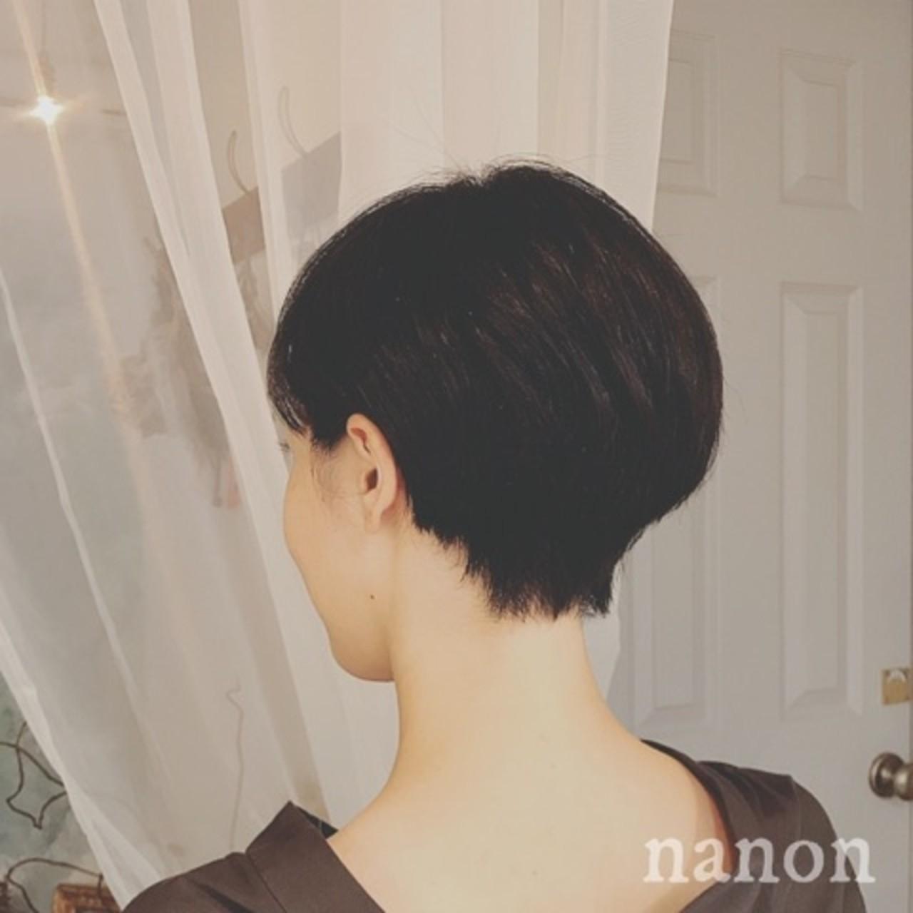冬 モード オフィス ショート ヘアスタイルや髪型の写真・画像