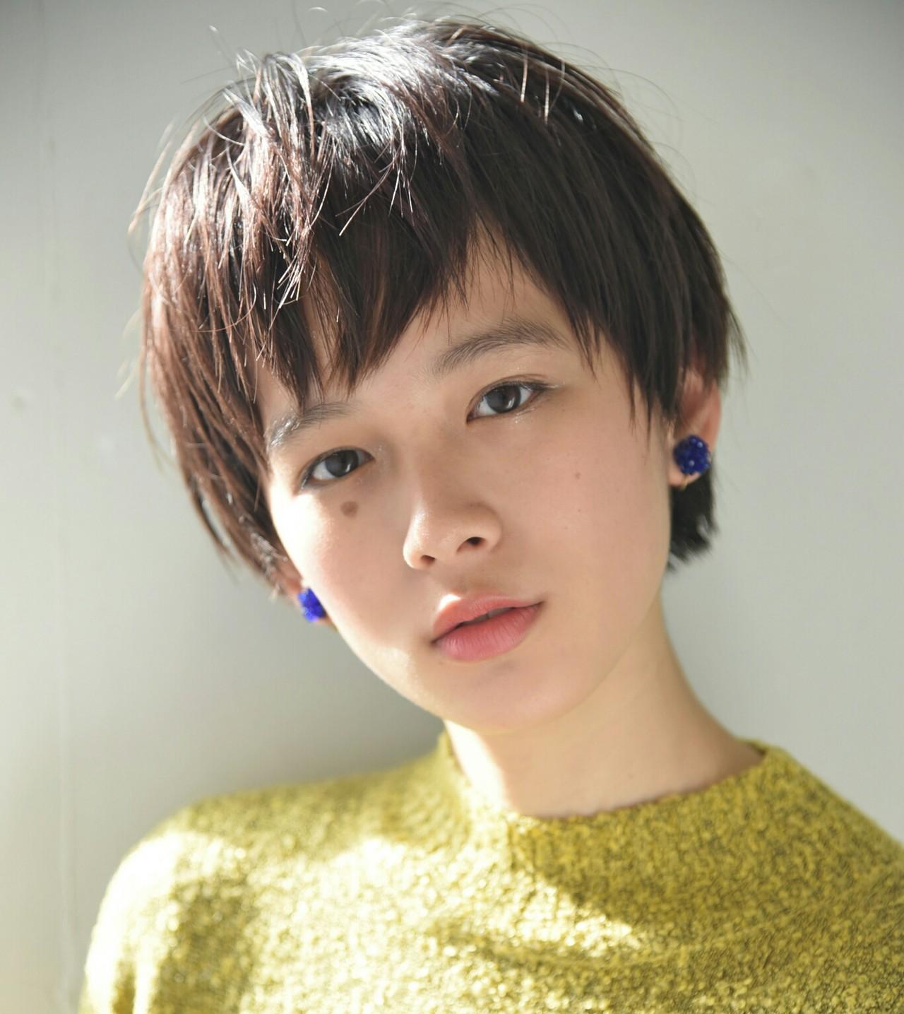 外国人風 アッシュ ベリーショート ショート ヘアスタイルや髪型の写真・画像