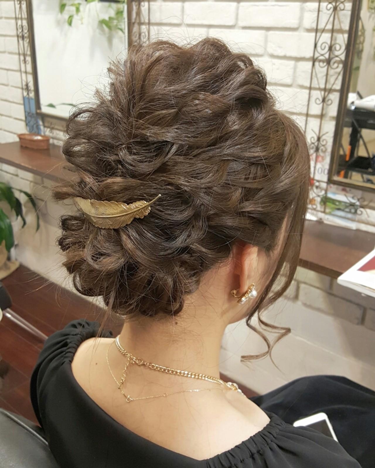 セミロング 外国人風 ヘアアレンジ 大人かわいい ヘアスタイルや髪型の写真・画像 | 岡本 幸治 / hair salon chelsea