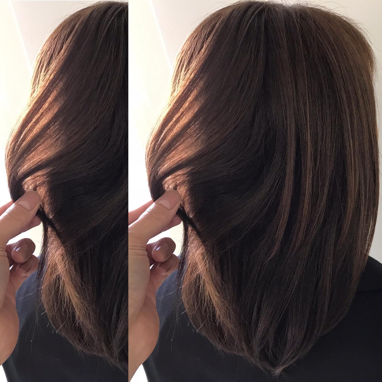 アンニュイほつれヘア ナチュラル 外国人風カラー ミディアム ヘアスタイルや髪型の写真・画像 | 新谷 朋宏 / Free hairstylist shinya