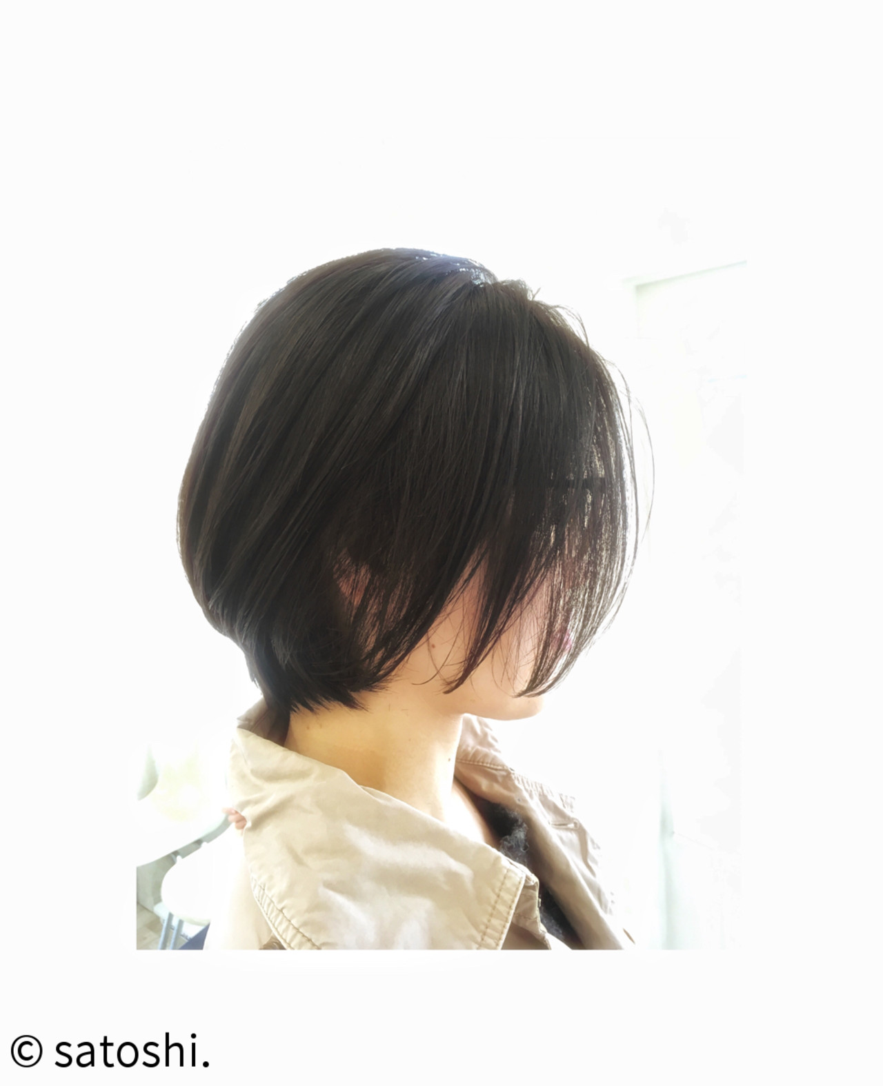 黒髪 ボブ センターパート 大人女子 ヘアスタイルや髪型の写真・画像