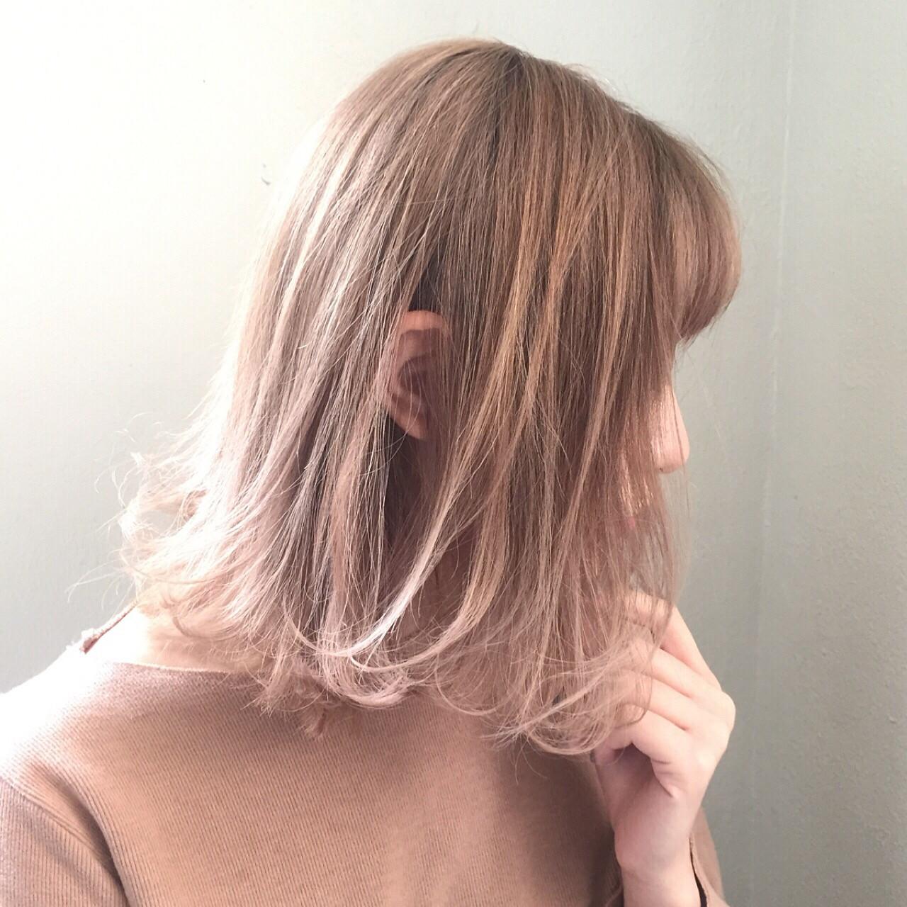 色気 ニュアンス デート アッシュ ヘアスタイルや髪型の写真・画像