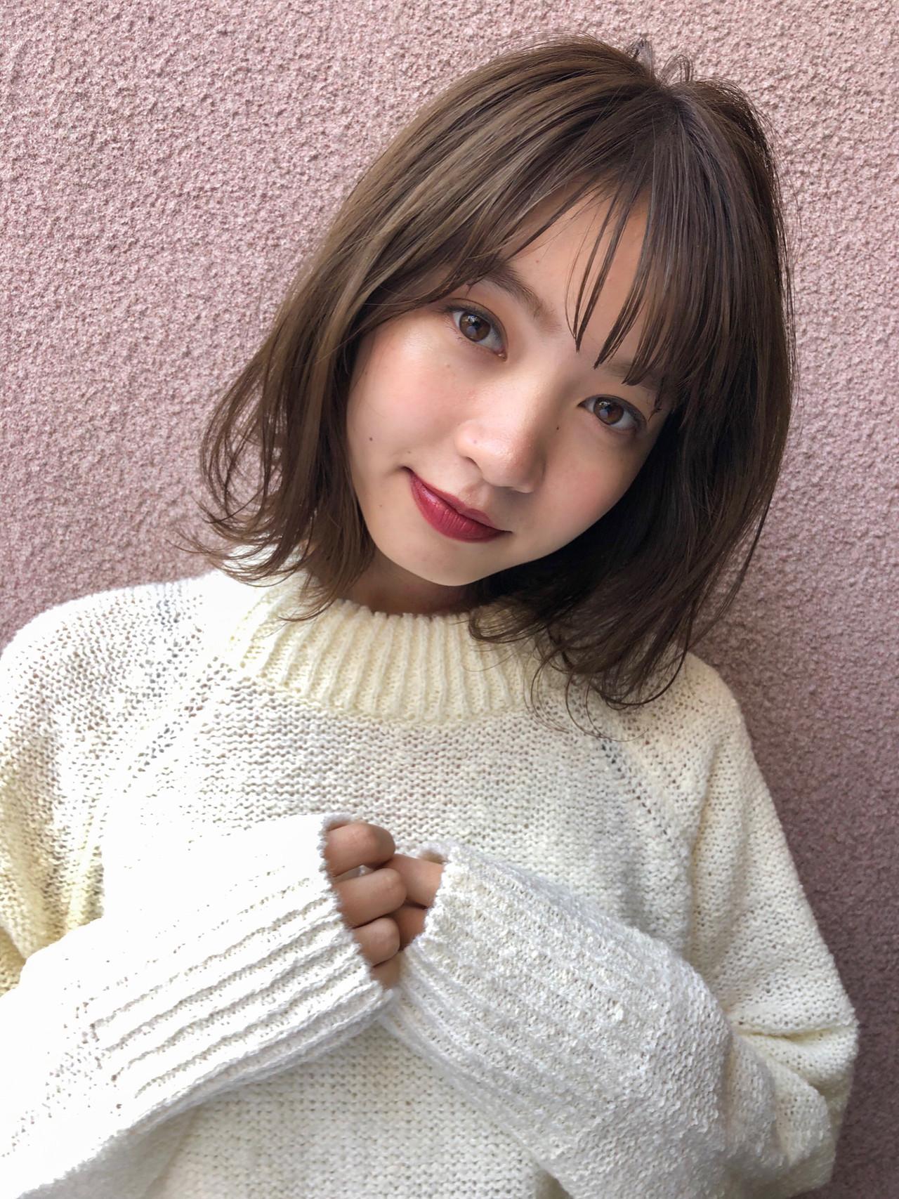 オフィス ボブ 大人カジュアル 前髪 ヘアスタイルや髪型の写真・画像 | 鈴木ゆうすけ / GARDEN  harajuku