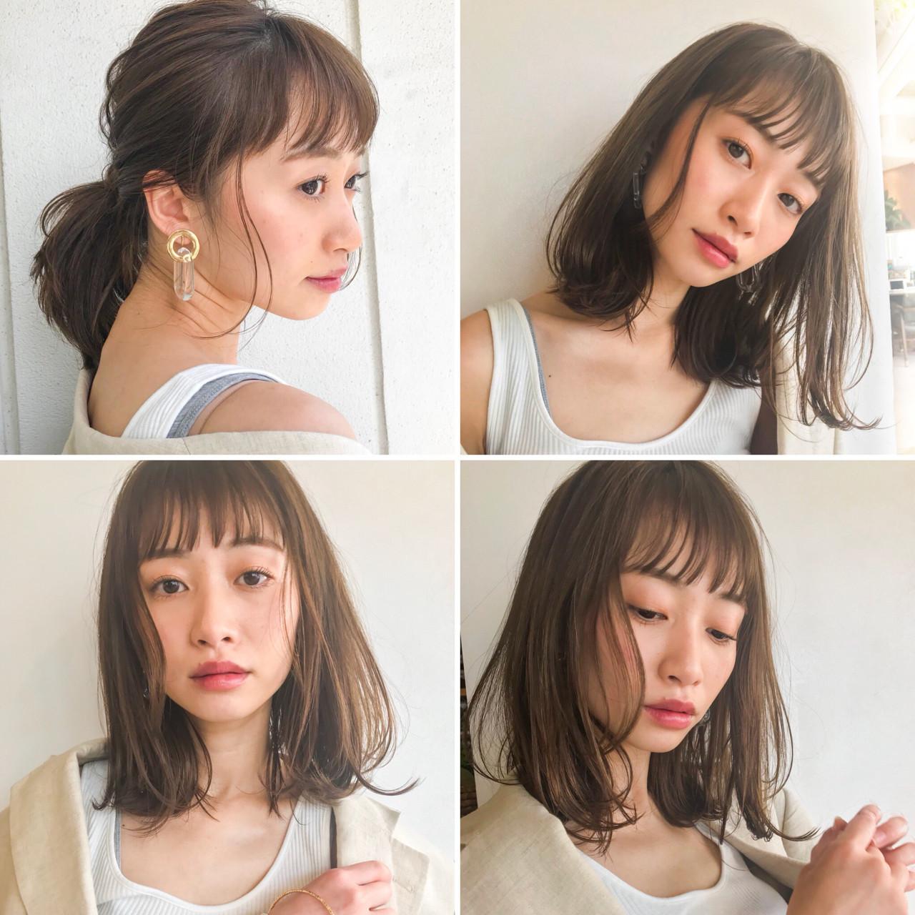 ミディアム 夏 涼しげ フェミニン ヘアスタイルや髪型の写真・画像 | lora.garden 細田真吾 / lora.garden