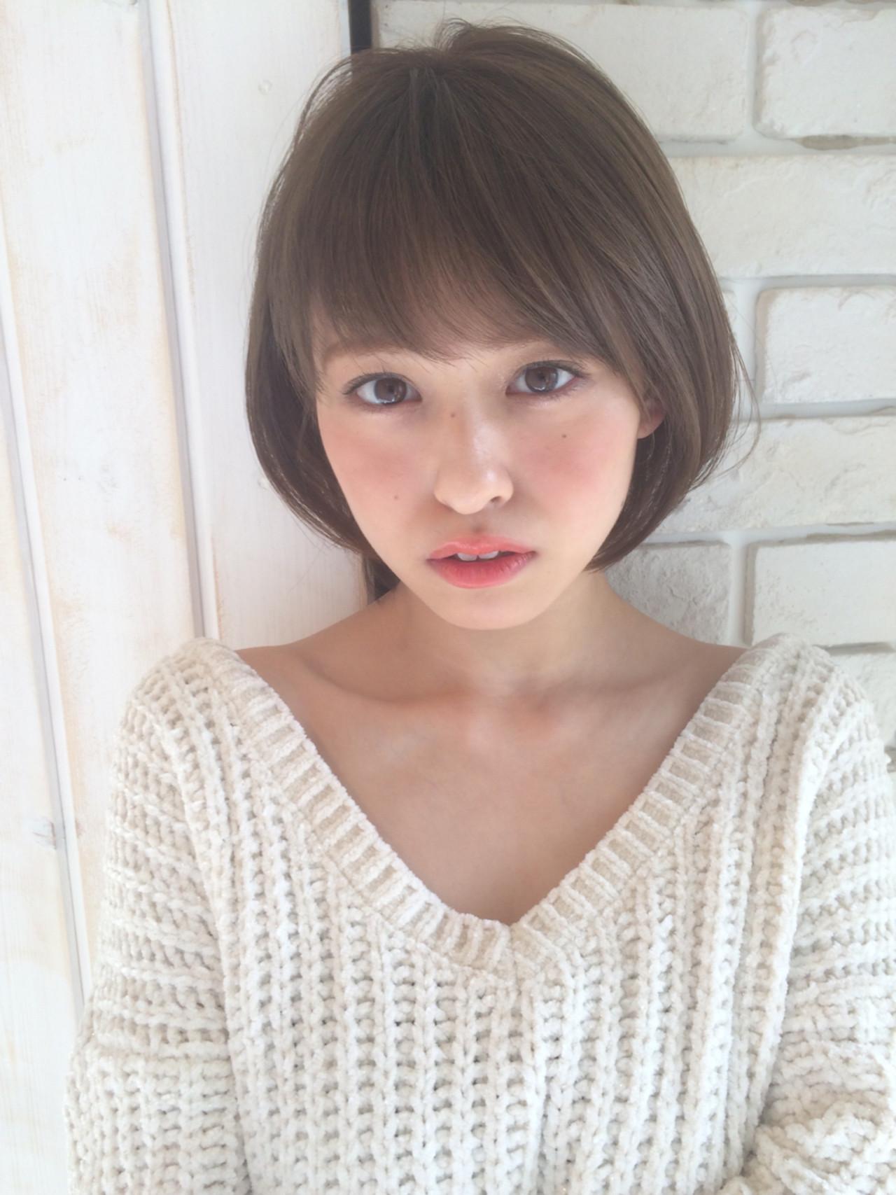 デート ショート 前髪あり 外国人風 ヘアスタイルや髪型の写真・画像