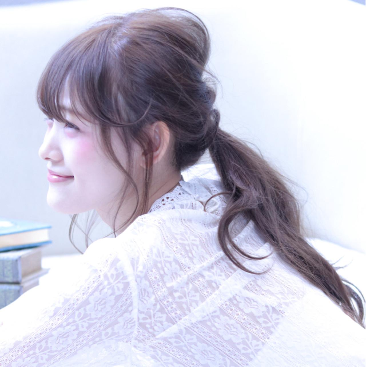 こなれ感 小顔 ロング ヘアアレンジ ヘアスタイルや髪型の写真・画像 | Wataru Maeda / cache cache