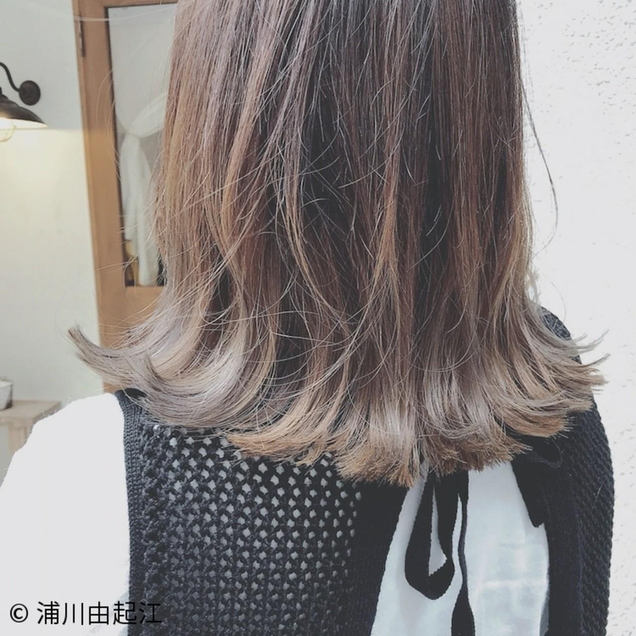 ミディアム ハイライト ゆるふわ 大人かわいい ヘアスタイルや髪型の写真・画像