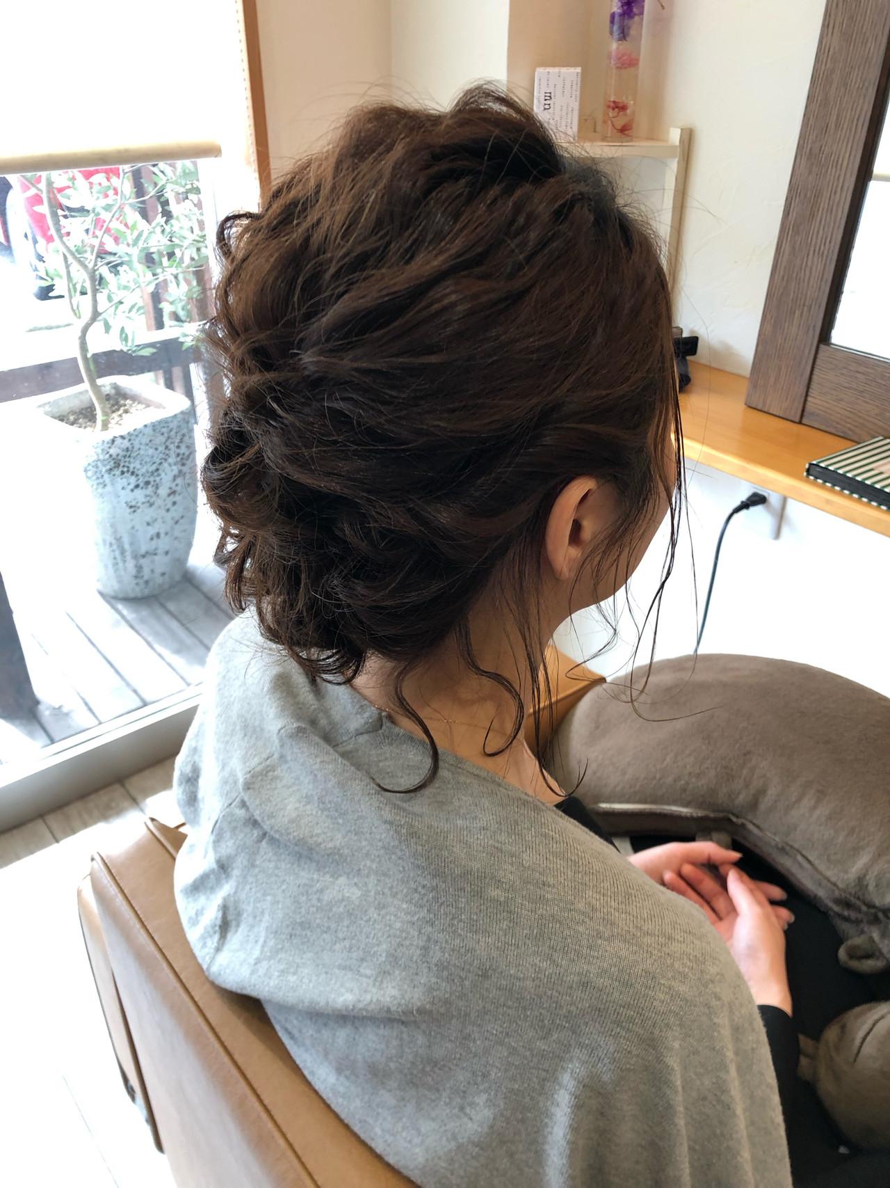 ヘアアレンジ お呼ばれヘア 結婚式 ナチュラル ヘアスタイルや髪型の写真・画像