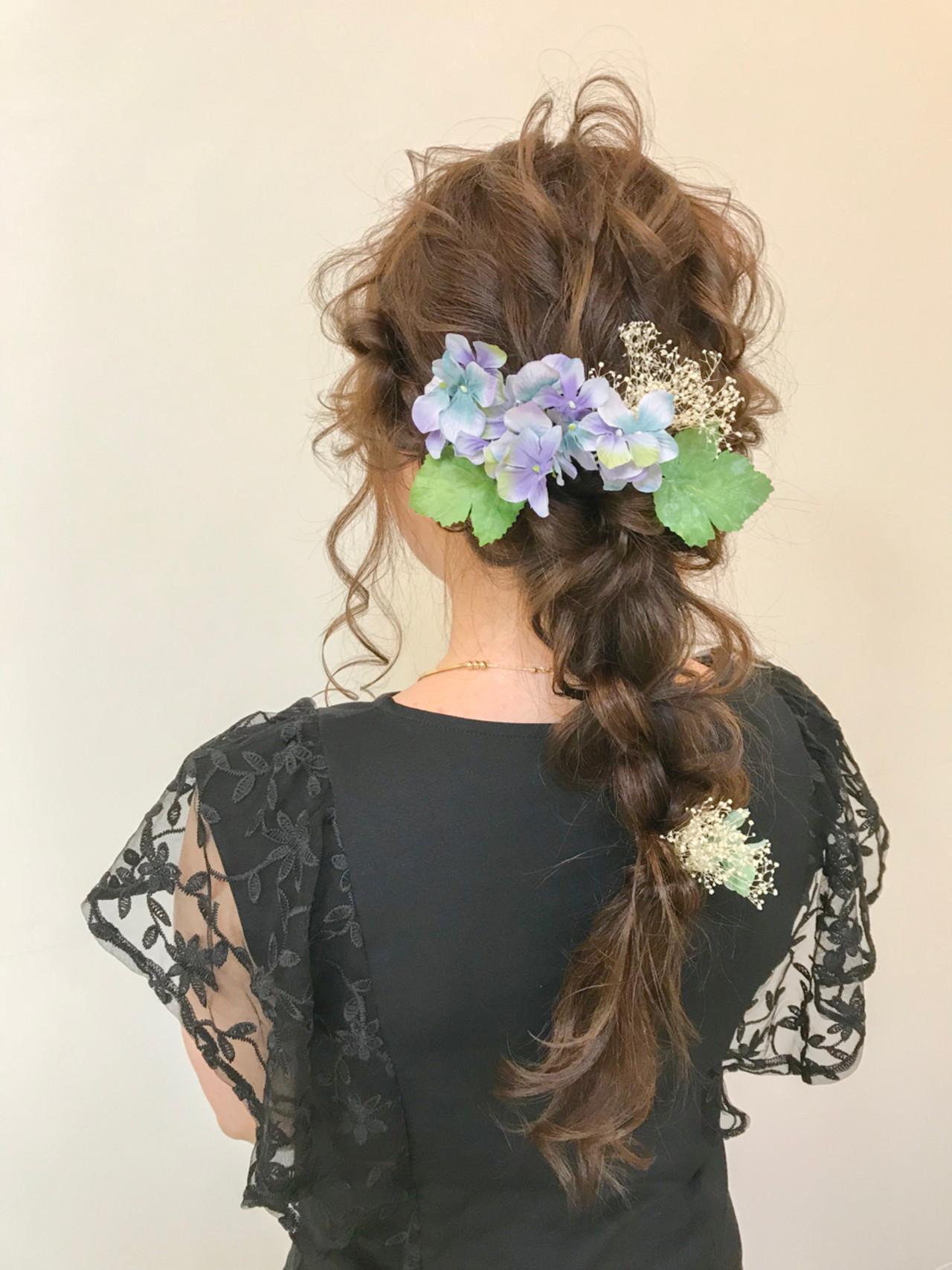 上品 結婚式 成人式 ロング ヘアスタイルや髪型の写真・画像