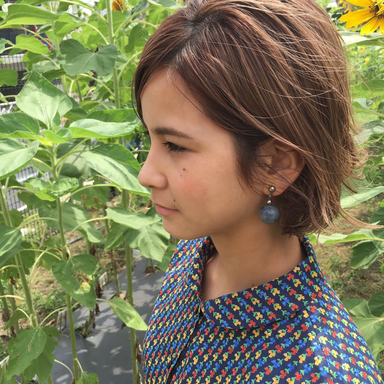 ボブ ハイライト アッシュ モード ヘアスタイルや髪型の写真・画像 | 小西敬二郎 / Heartim