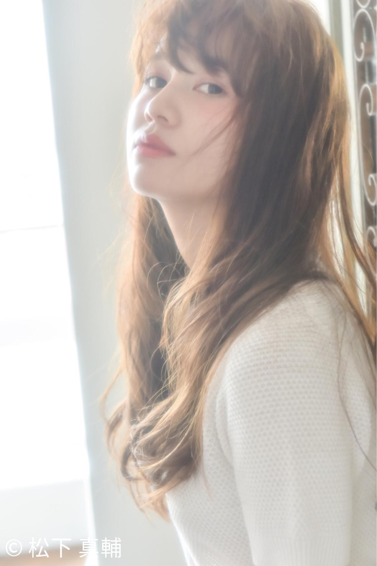 簡単 パーマ ロング 外国人風 ヘアスタイルや髪型の写真・画像