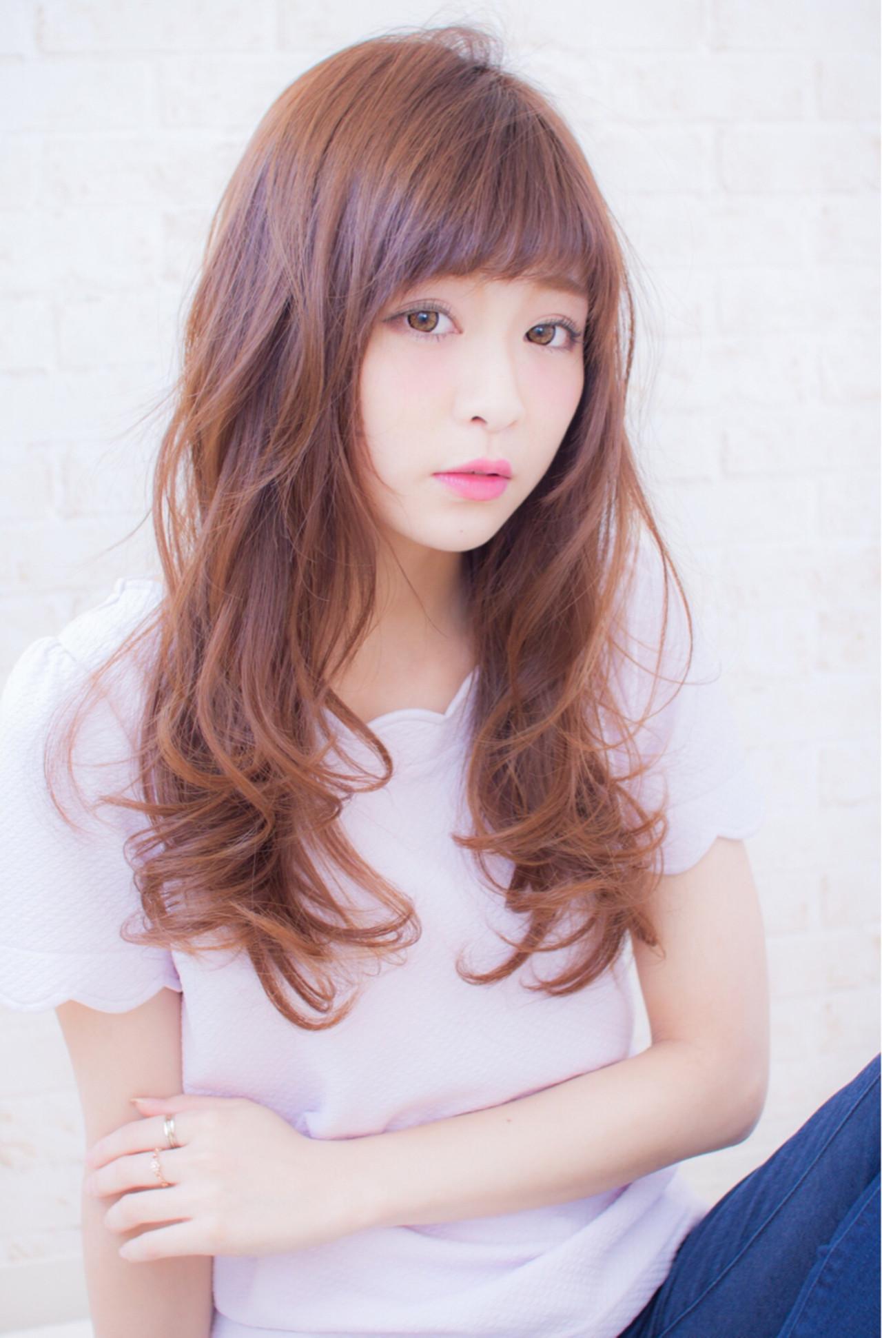 大人女子 大人かわいい セミロング ナチュラル ヘアスタイルや髪型の写真・画像