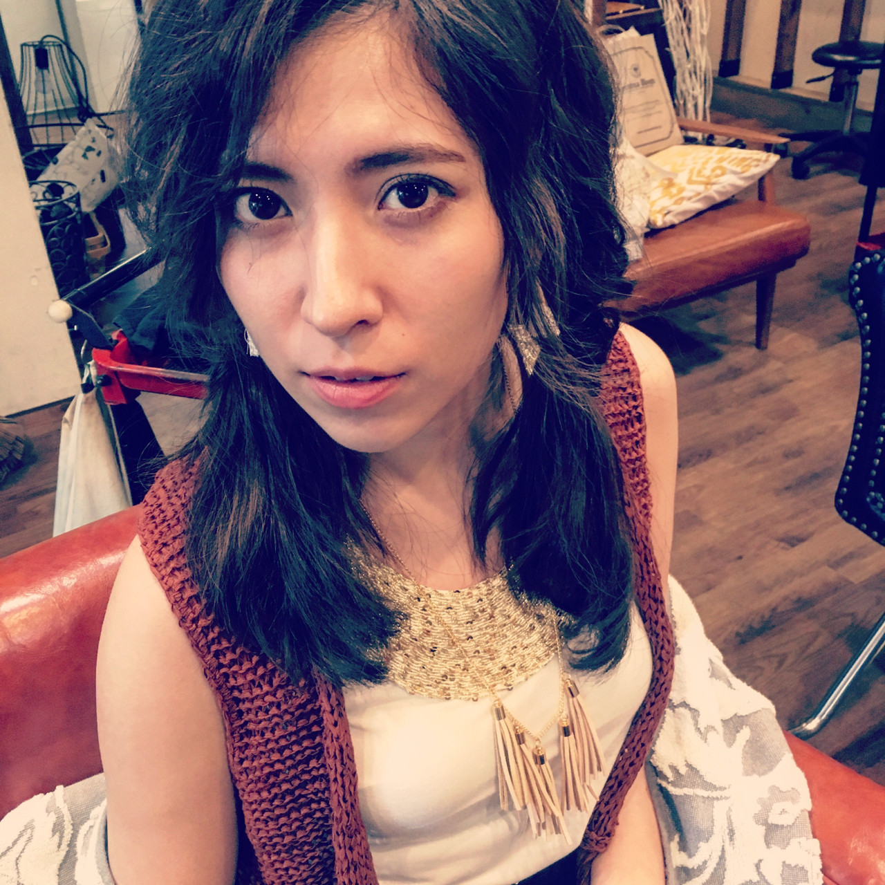 暗髪 ヘアアレンジ 透明感 外国人風 ヘアスタイルや髪型の写真・画像