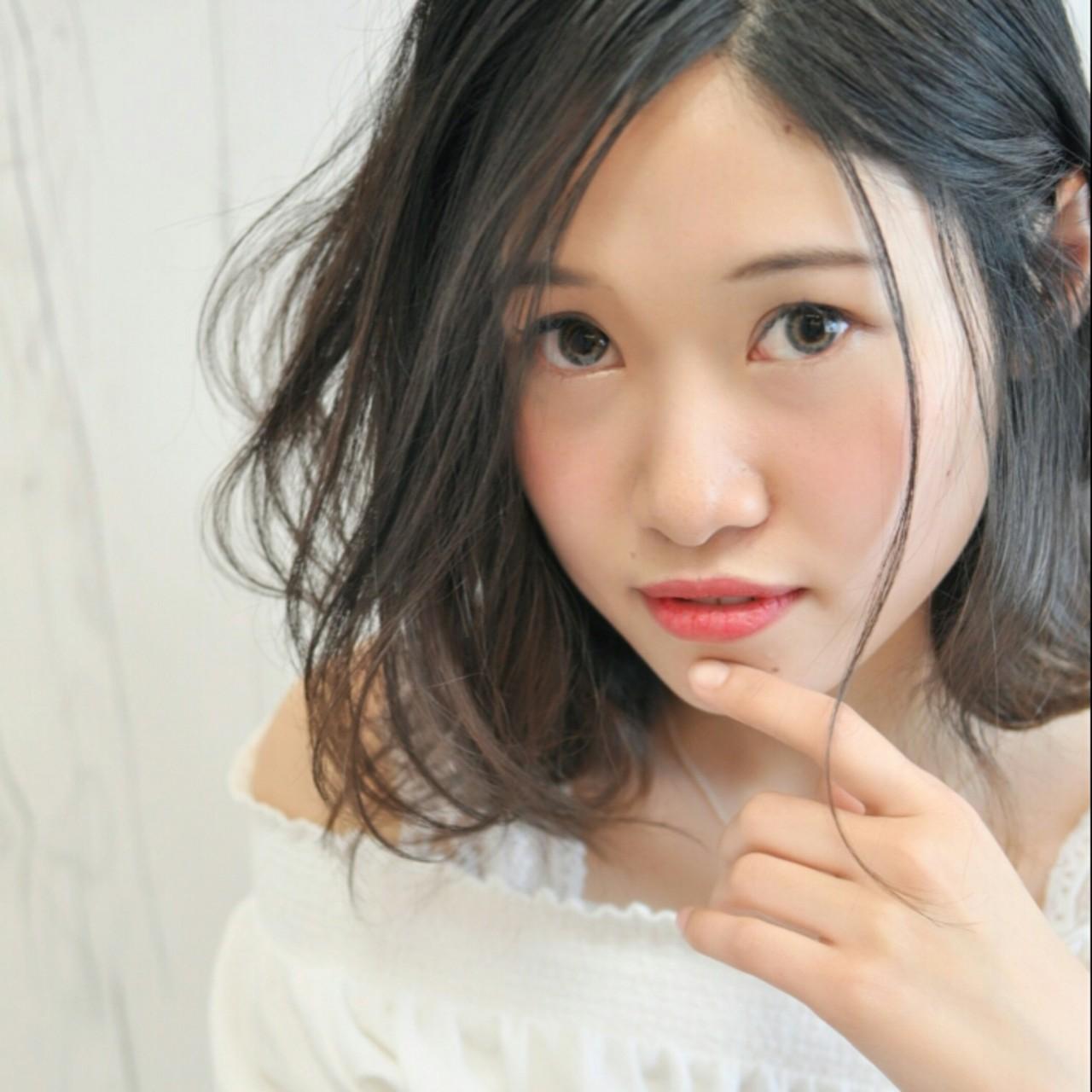 大人女子 ヘアアレンジ ショート 黒髪 ヘアスタイルや髪型の写真・画像