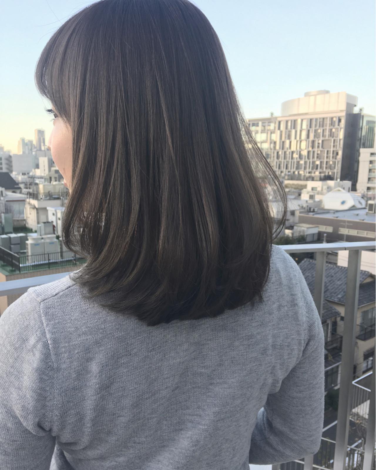 外国人風 ゆるふわ ミディアム アッシュ ヘアスタイルや髪型の写真・画像 | 齋藤純也 / L.O.G by U-realm