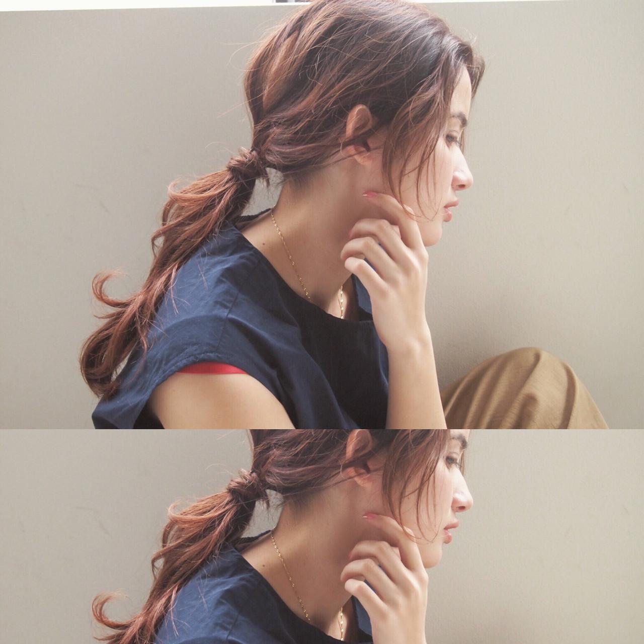 セミロング 外国人風 ベージュ ショート ヘアスタイルや髪型の写真・画像