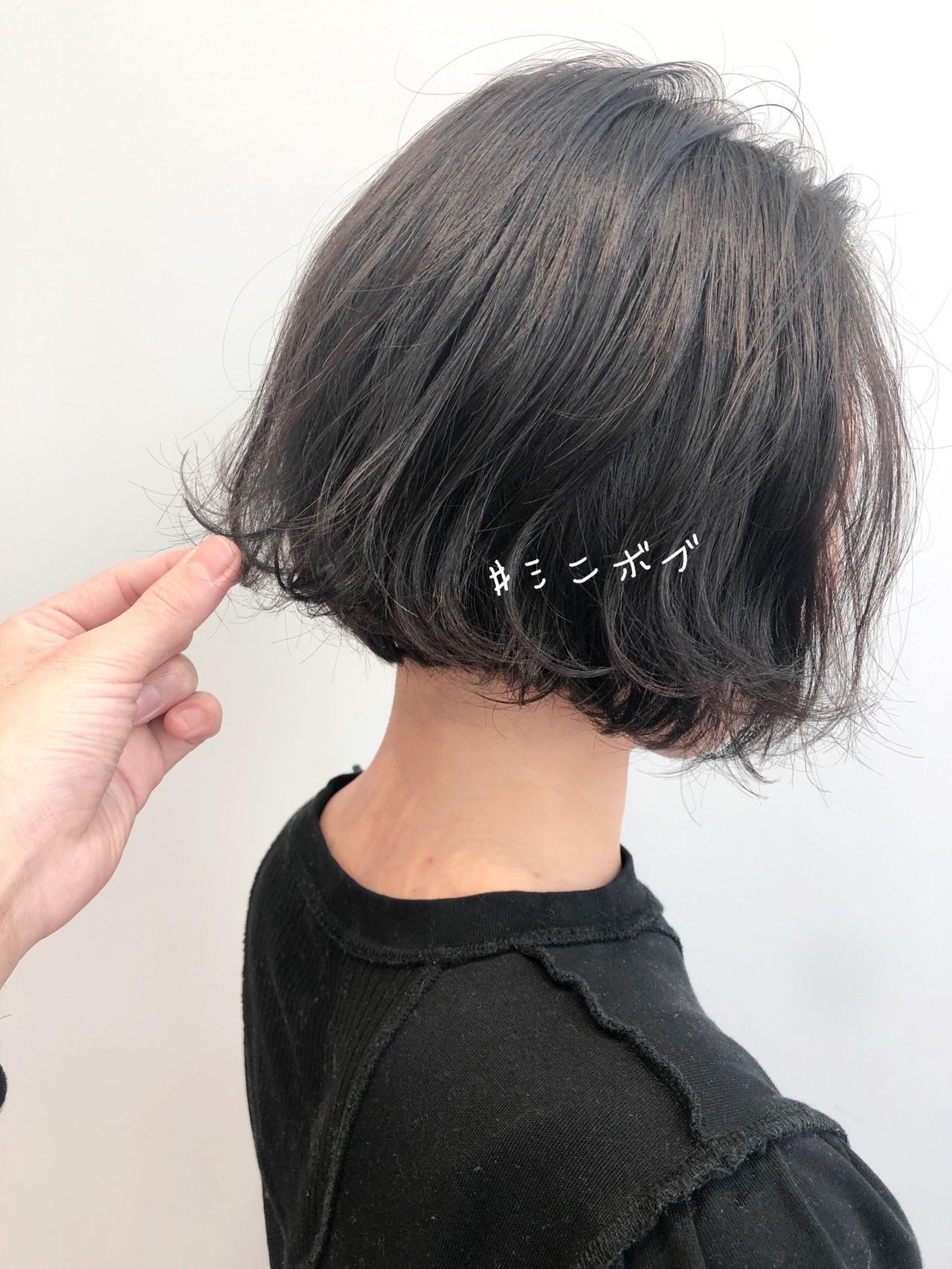 ボブ 切りっぱなしボブ ベリーショート ミニボブ ヘアスタイルや髪型の写真・画像 | 北村 亮 / Lano by HAIR
