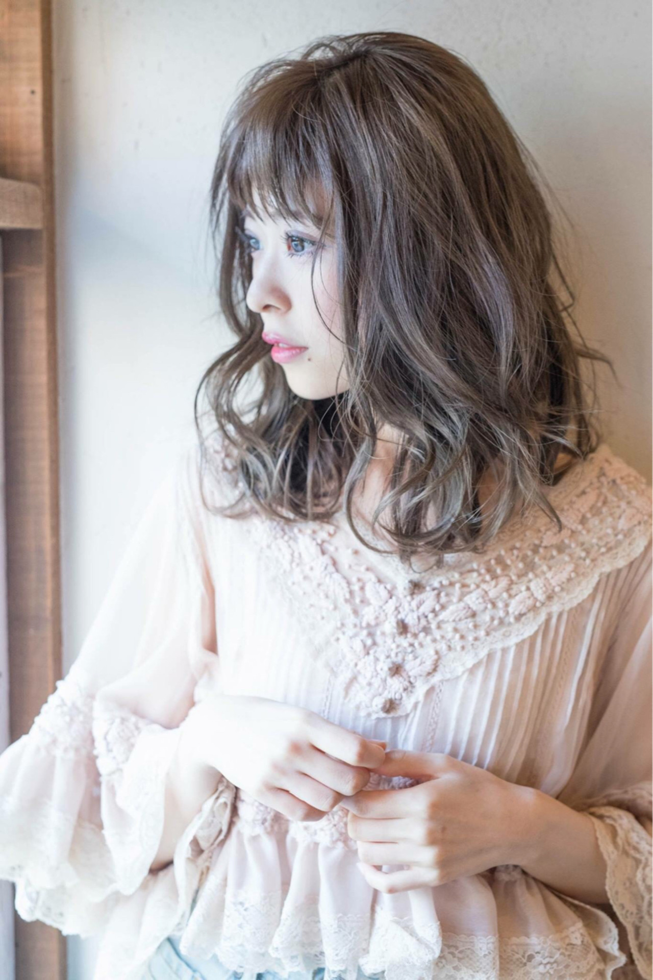 透明感 秋 フェミニン 大人女子 ヘアスタイルや髪型の写真・画像