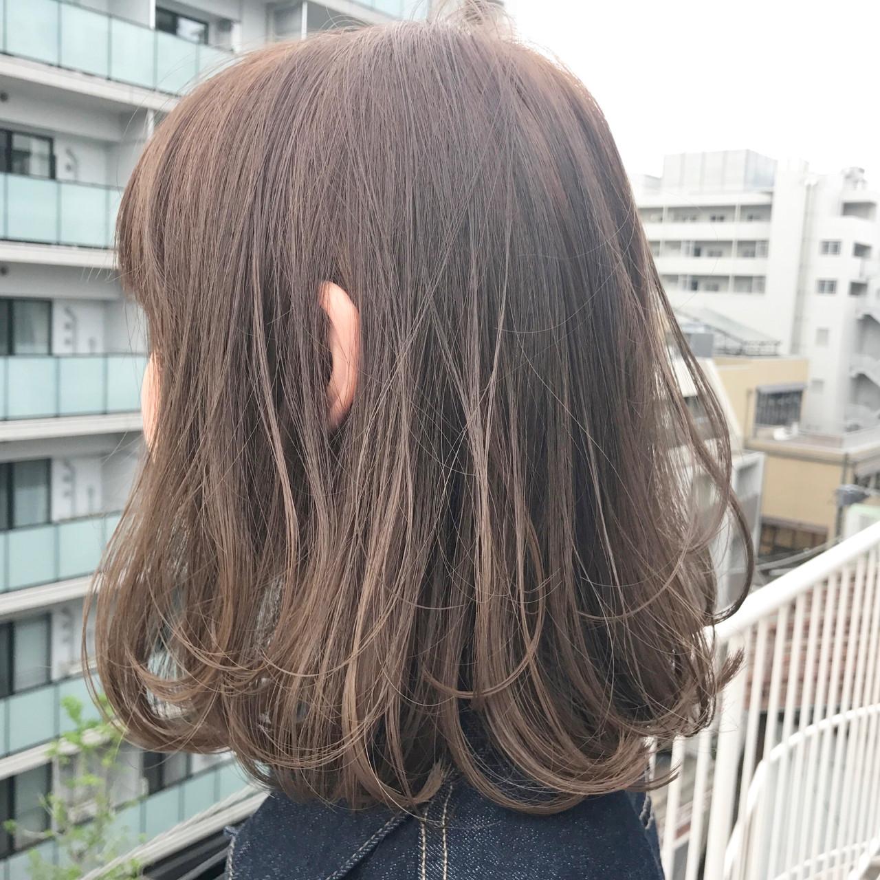 ボブ ミルクティー ワンカール ヌーディベージュ ヘアスタイルや髪型の写真・画像   miya/@1031miya / フリーランス(XENA)