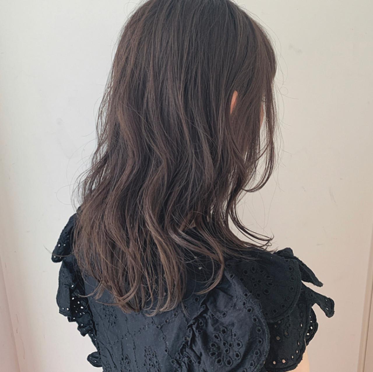アディクシーカラー 透け感アッシュ 透明感 セミロング ヘアスタイルや髪型の写真・画像   透明感セミロング/Hiroyuki_Kihara / Direction