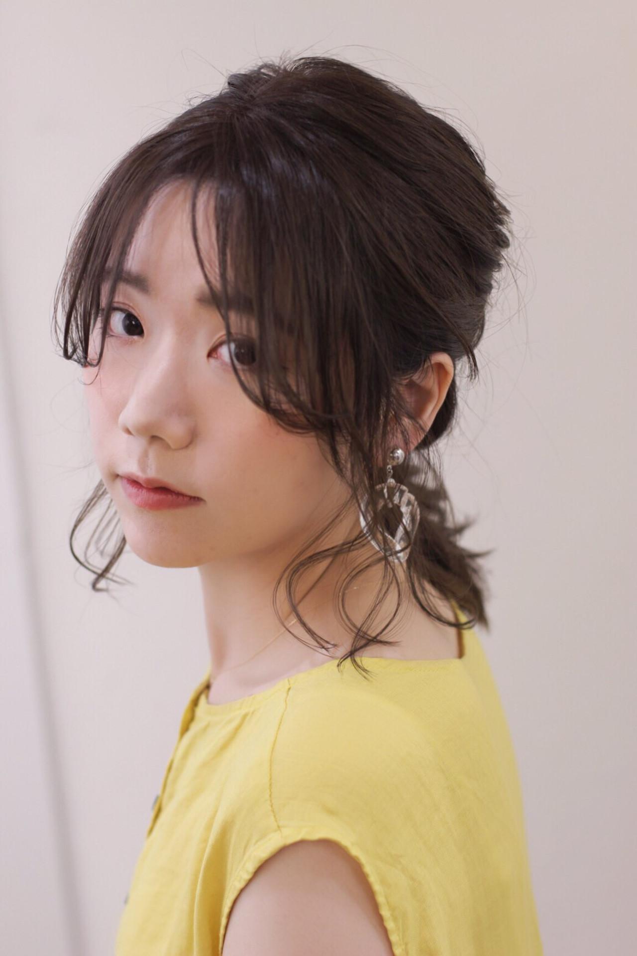 大人かわいい くるりんぱ 簡単ヘアアレンジ フェミニン ヘアスタイルや髪型の写真・画像 | risa /