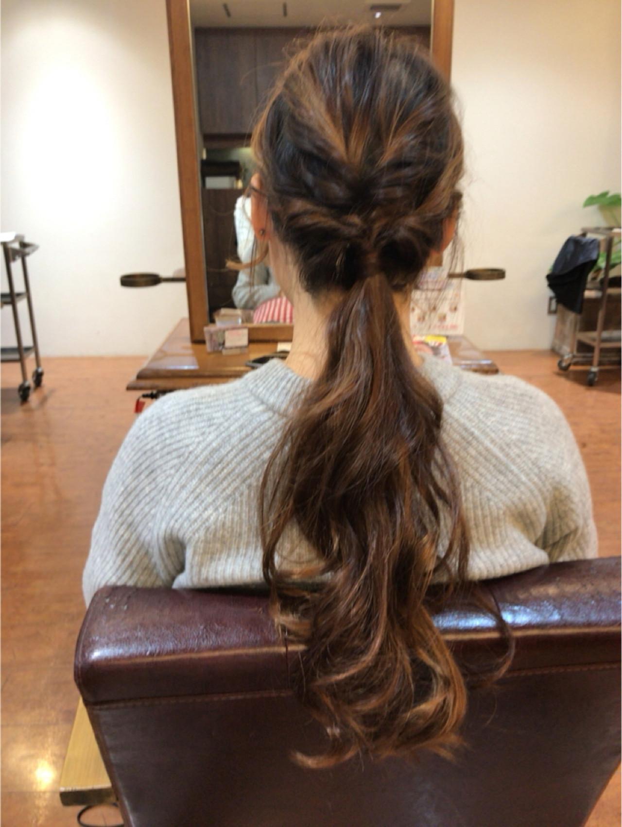 ゆるふわ ショート フェミニン ロング ヘアスタイルや髪型の写真・画像 | まりえ / 花やの前の美容室