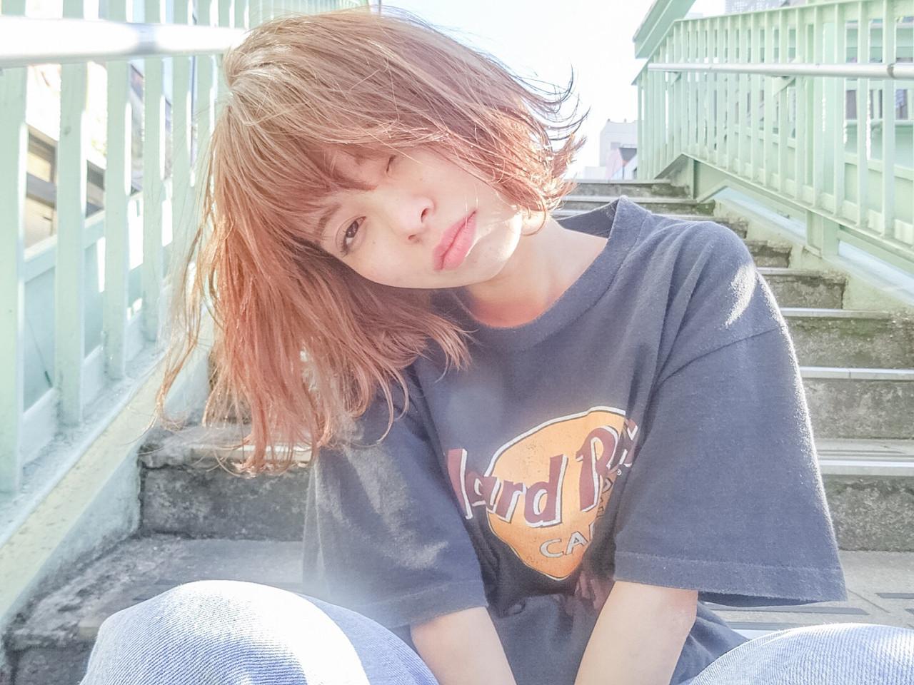 ボブ 外国人風 ストリート ハイライト ヘアスタイルや髪型の写真・画像 | Ryusei Maeda / free
