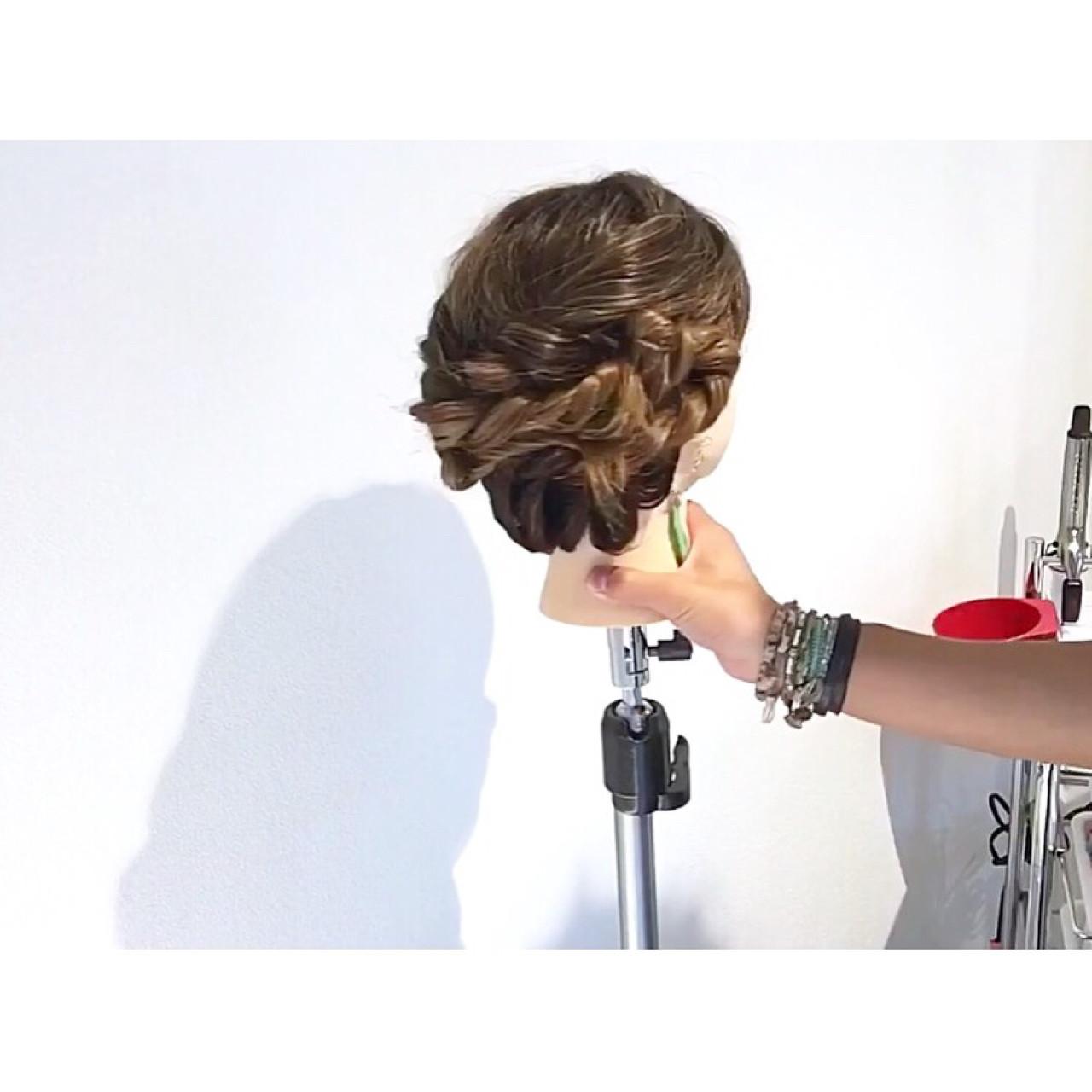 ヘアアレンジ アウトドア オフィス 上品 ヘアスタイルや髪型の写真・画像