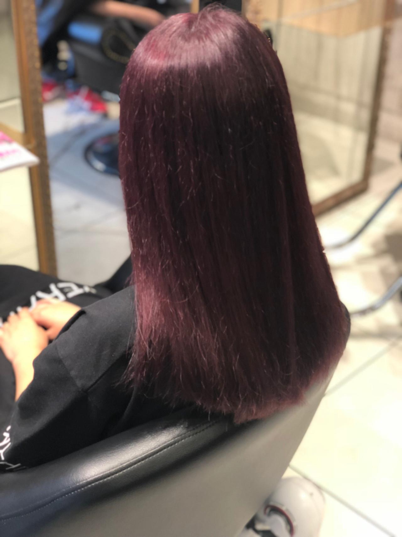 ストリート ピンク ダブルカラー ブリーチ ヘアスタイルや髪型の写真・画像