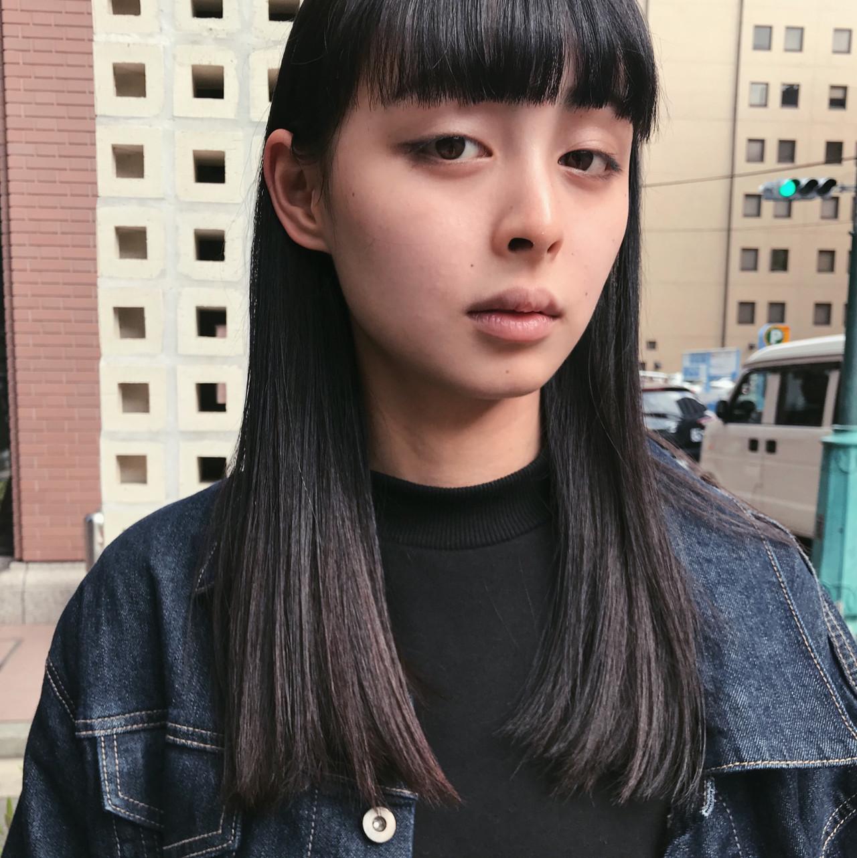 モード セミロング ヘアスタイルや髪型の写真・画像 | 濱崎 綾 / merci