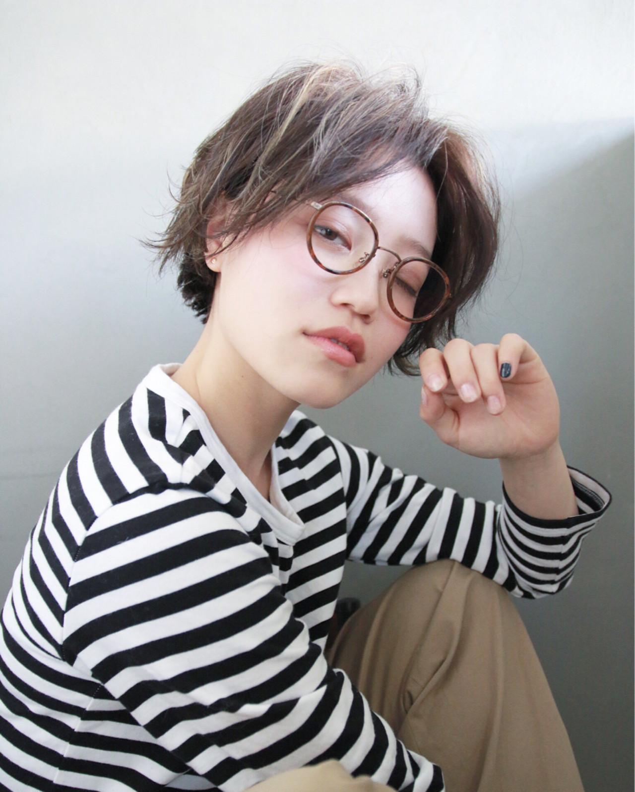 外国人風 ブリーチ パーマ ショート ヘアスタイルや髪型の写真・画像