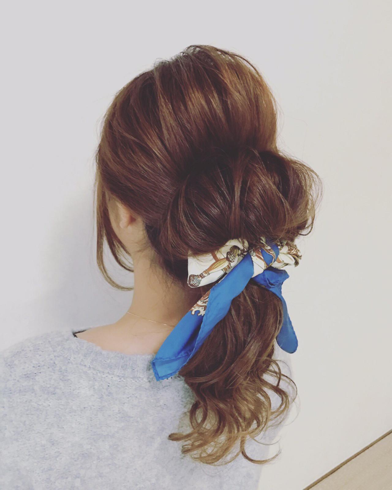ロング 簡単ヘアアレンジ 外国人風 大人女子 ヘアスタイルや髪型の写真・画像