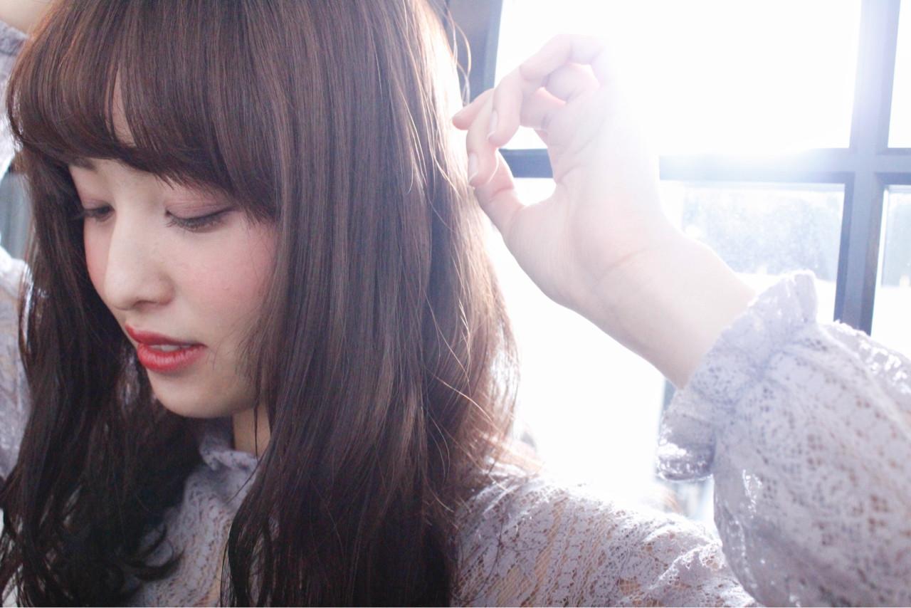 外国人風 ミルクティー パーマ セミロング ヘアスタイルや髪型の写真・画像