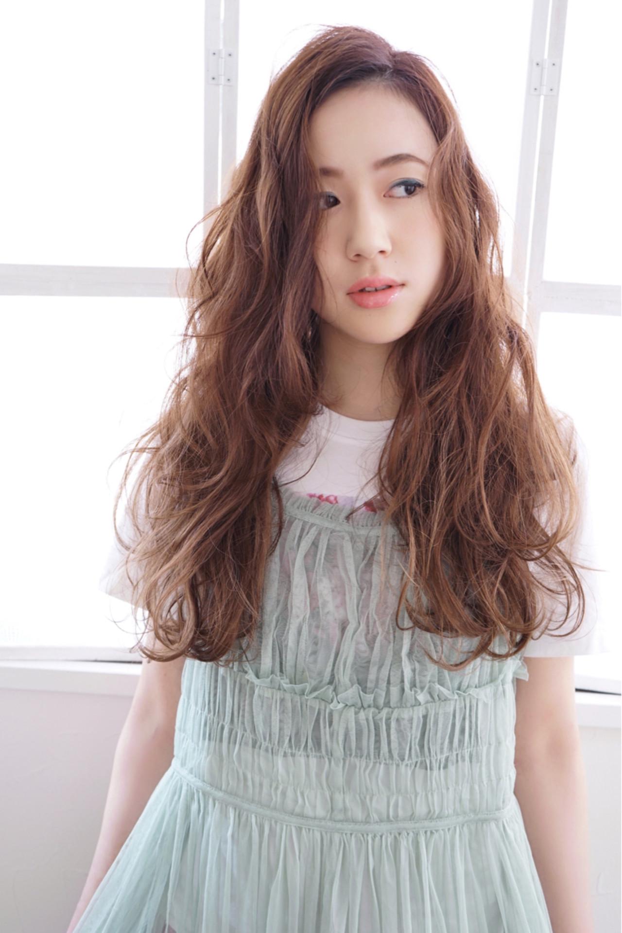 ゆるふわ フェミニン グラデーションカラー 大人かわいい ヘアスタイルや髪型の写真・画像 | 花井啓好 / mateca hairマテカヘアー