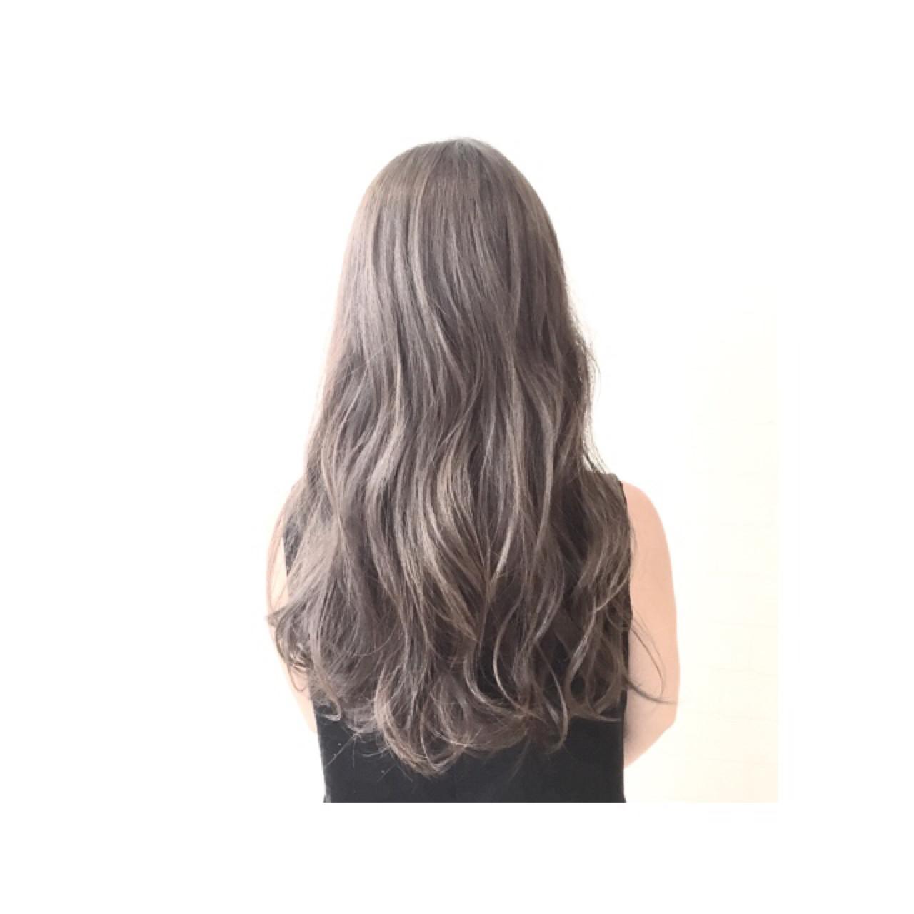 グラデーションカラー 暗髪 ハイライト アッシュ ヘアスタイルや髪型の写真・画像