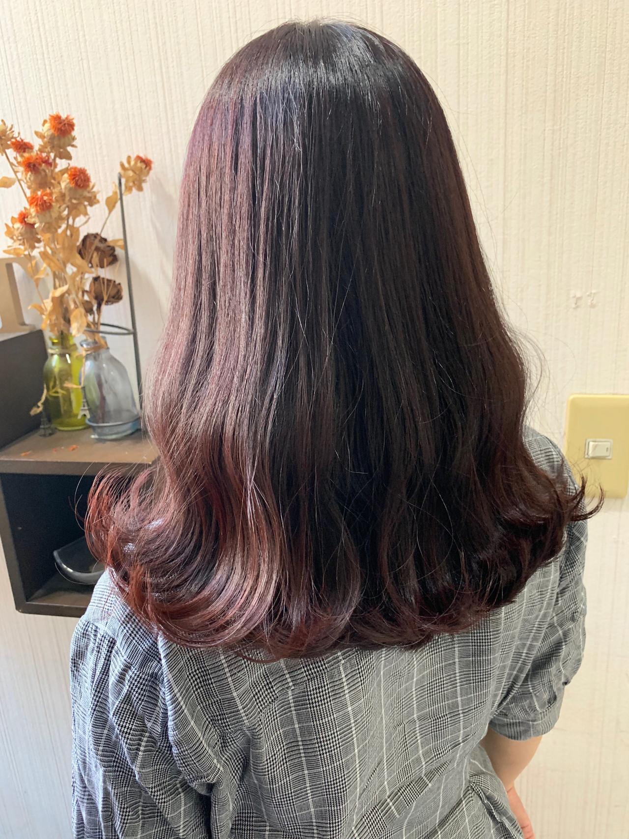 秋ブラウン 大人女子 ナチュラル ミディアム ヘアスタイルや髪型の写真・画像