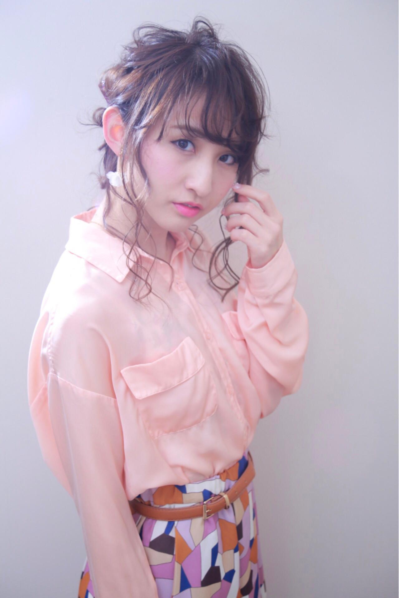 ロング ヘアアレンジ 編み込み 大人女子 ヘアスタイルや髪型の写真・画像