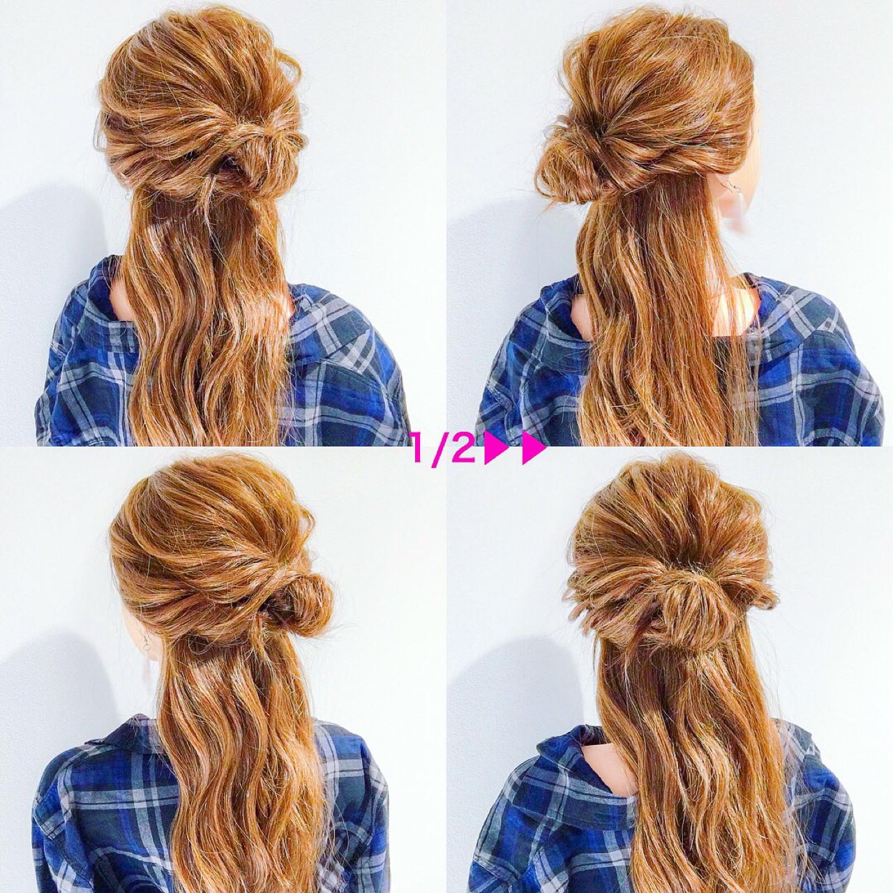 簡単ヘアアレンジ 上品 ロング オフィス ヘアスタイルや髪型の写真・画像 | 美容師HIRO/Amoute代表 / Amoute/アムティ