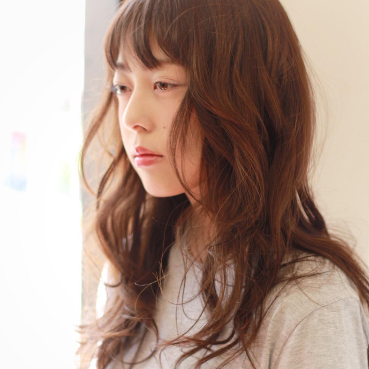 大人かわいい パーマ セミロング ゆるふわ ヘアスタイルや髪型の写真・画像 | 渡辺奈緒美 / styleindex茗荷谷