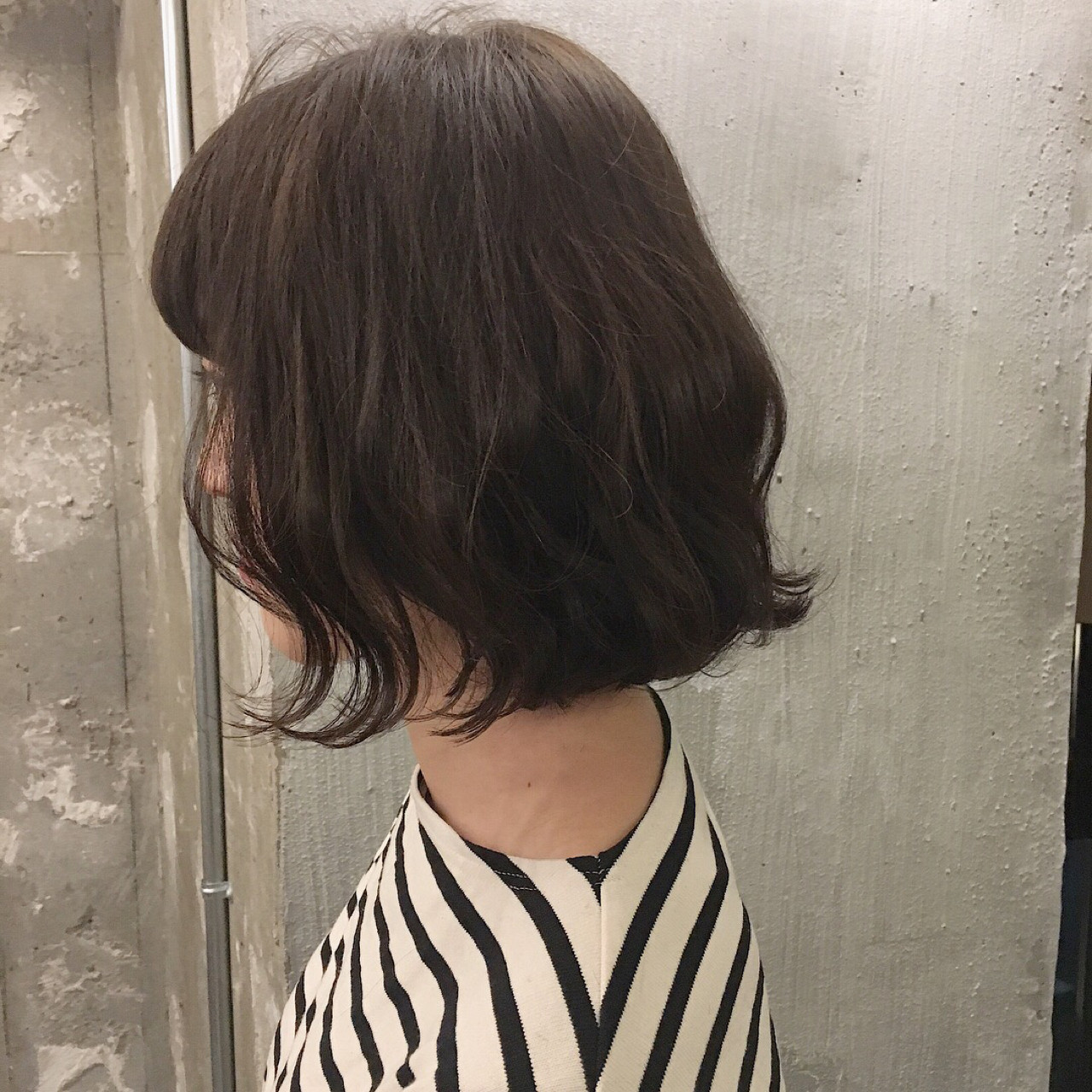 ナチュラル 黒髪 ボブ こなれ感 ヘアスタイルや髪型の写真・画像 | 冨永 真太郎 / 人トナリ