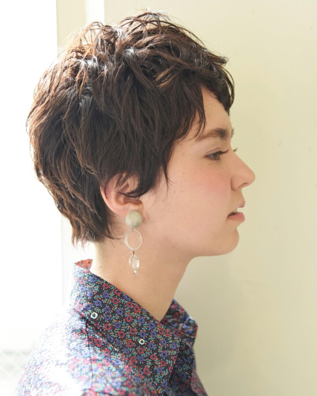 女子会 前髪あり ベリーショート 外国人風 ヘアスタイルや髪型の写真・画像