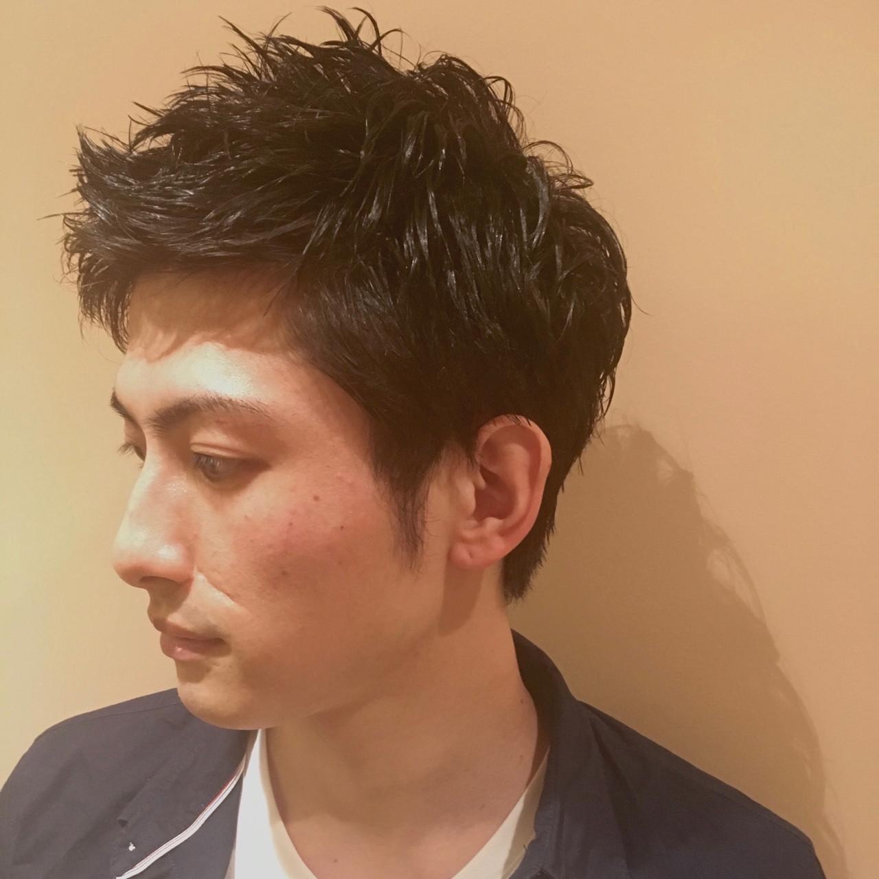 メンズの濡れ髪スタイル