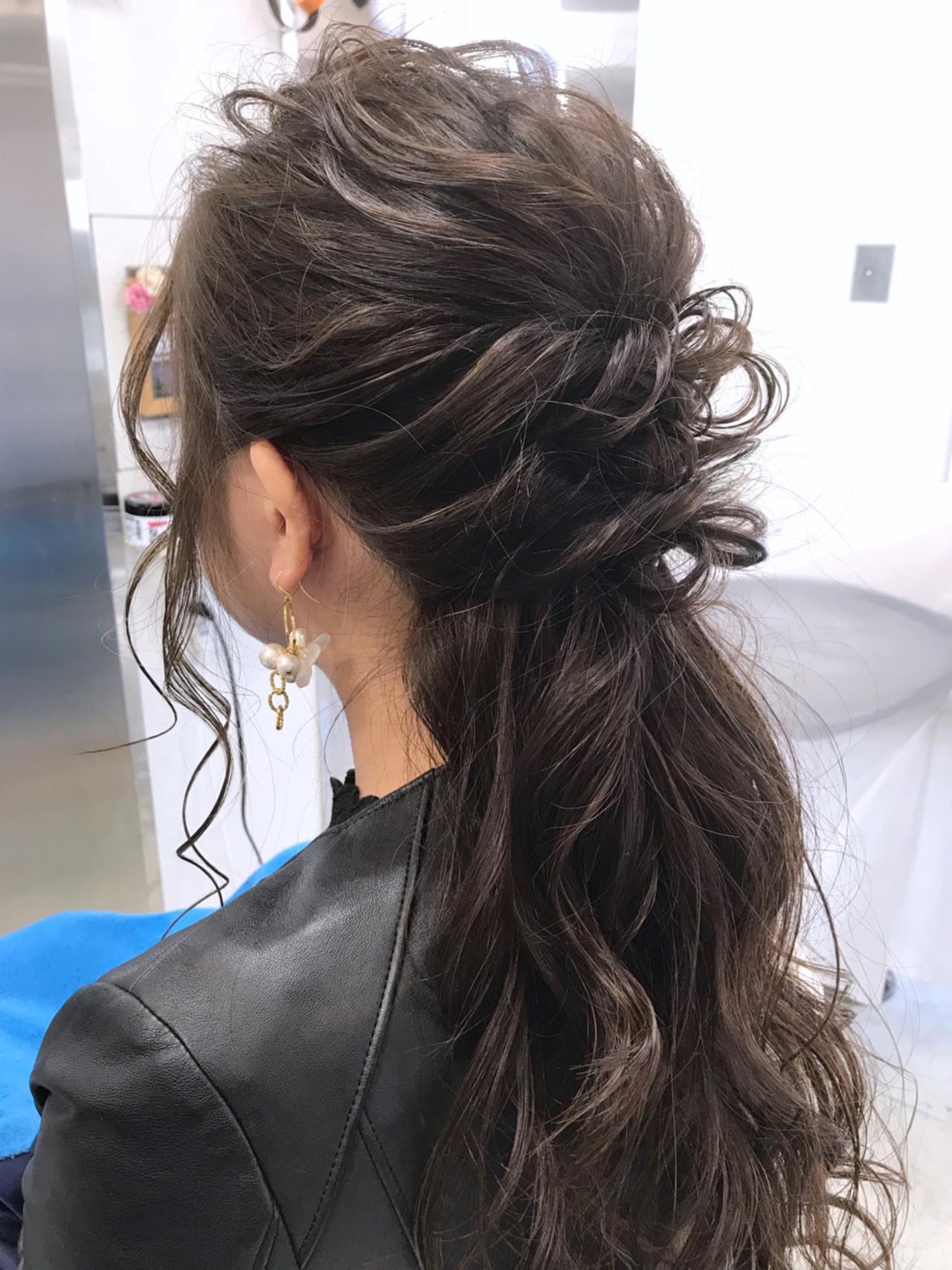 ロング ゆるふわ ハーフアップ 簡単ヘアアレンジ ヘアスタイルや髪型の写真・画像 | 村西 郁人 / rue