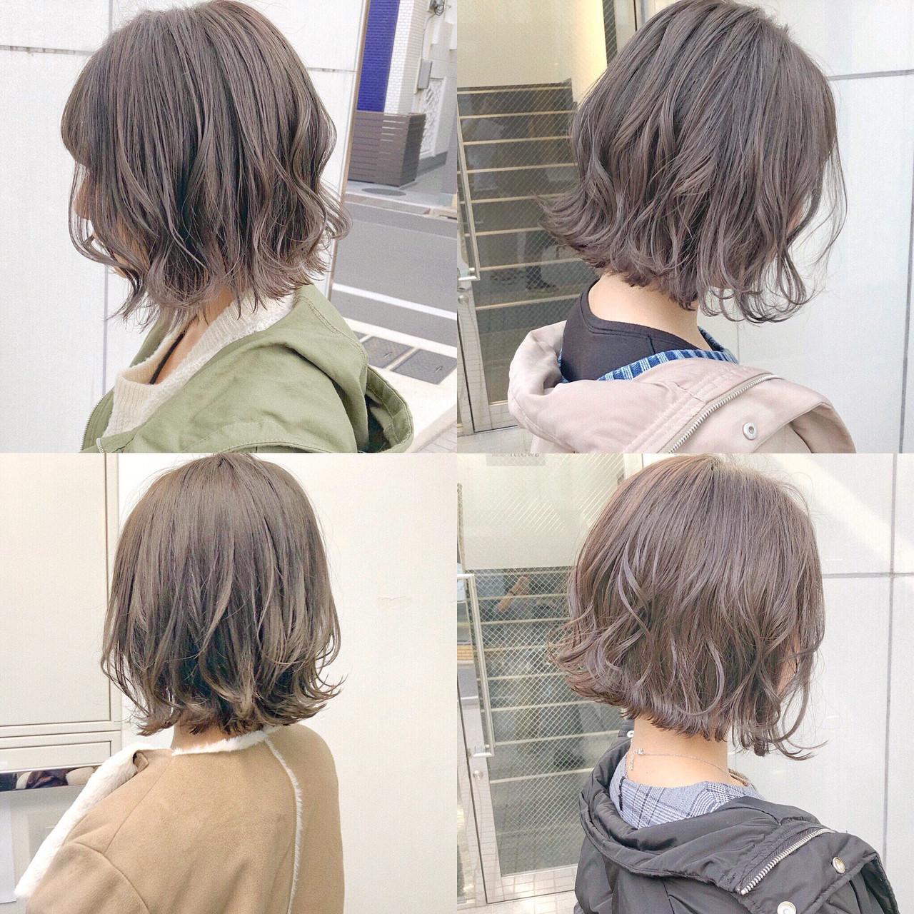 簡単ヘアアレンジ ナチュラル ボブ パーマ Send By Hair ボブ美容師