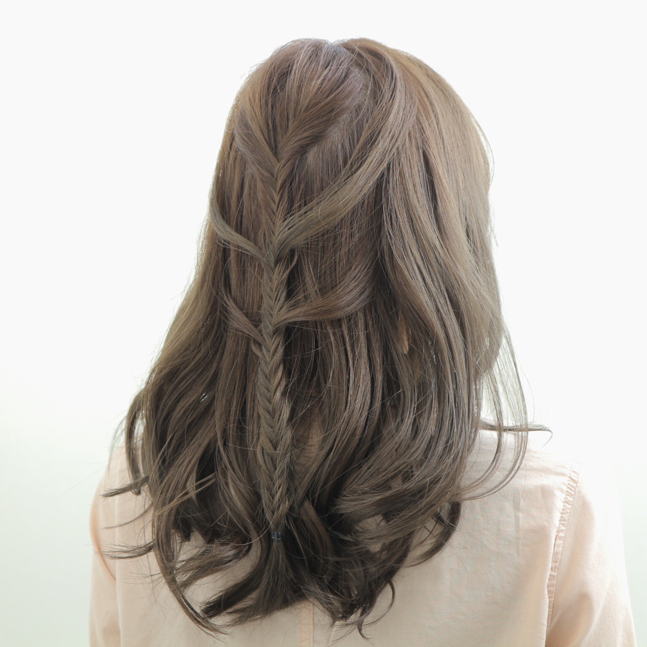 冬 大人女子 外国人風 セミロング ヘアスタイルや髪型の写真・画像