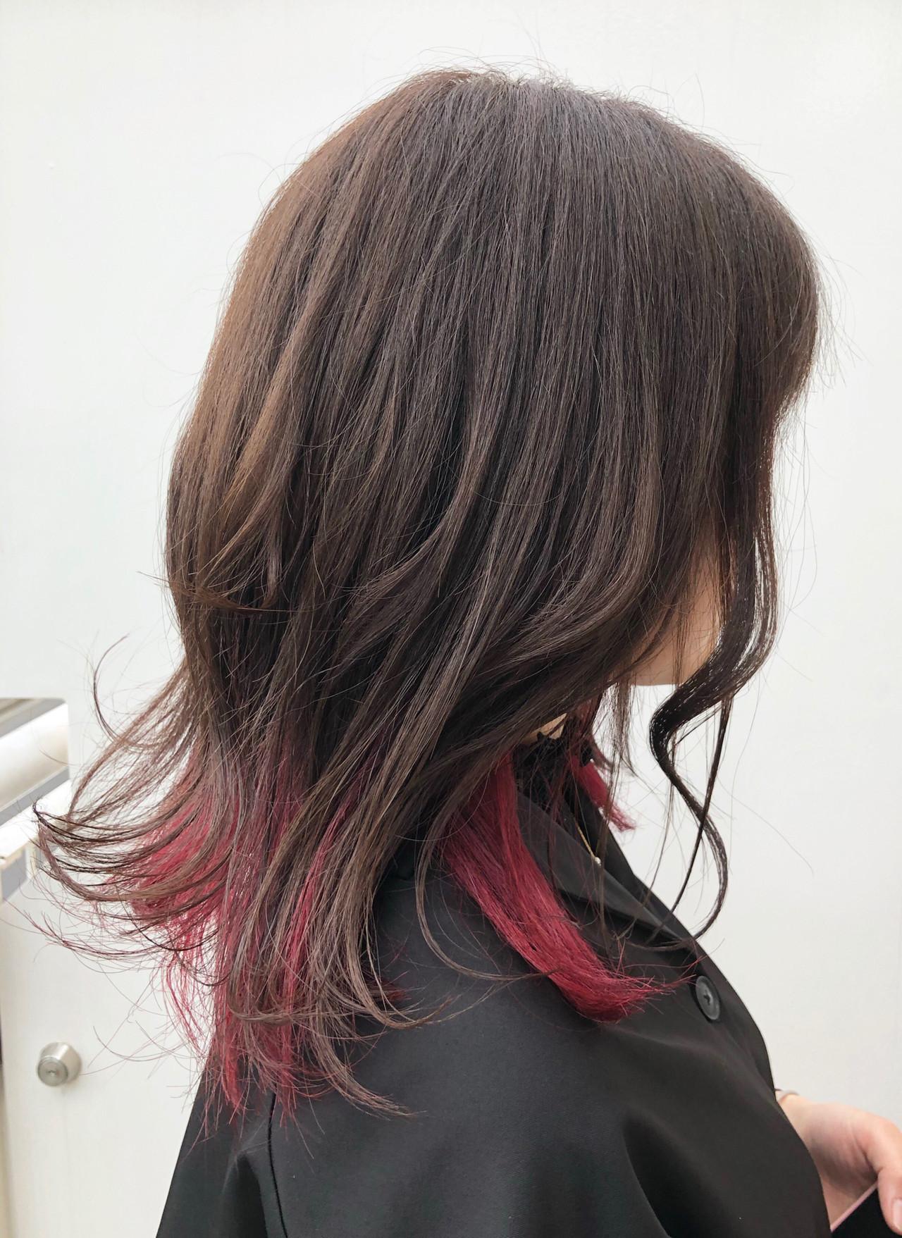 ストリート ベリーピンク デート グラデーションカラー ヘアスタイルや髪型の写真・画像
